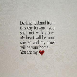 husband or wife poem wedding card by apple of my eye design