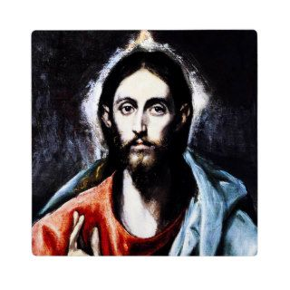 Placa de la bendición de El Greco Cristo de