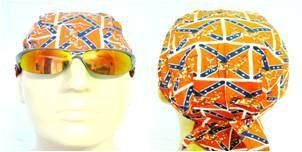 Bikers Cap with Deer/ Buck Rebel Flag Confederate Flag Southern Design Pattern Also Known As Headwraps, Skullies, Skull Caps, Bandanas in Red, White and Blue Colors: Everything Else