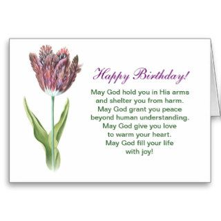 Christianity Birthday Cards with flower