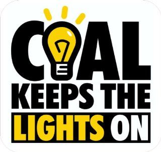 """3   Coal Keeps The Lights On Hard Hat Stickers Designed by Earl Ferguson """"Sons of Coal"""" H564 Automotive"""