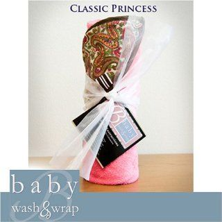 Baby Wash and WrapTM Soft Hooded Bath Towel for Baby, Bathing Apron Keeps You Dry CLASSIC PRINCESS  Baby