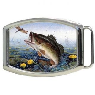 Jumping Big Mouth Bass Fish Kids Belt Buckle Clothing