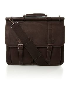 Kenneth Cole Reaction 5.5 Dbl Gusset Dowel Rod Portfolio 15.4