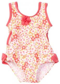 Little Me Baby girls Infant Floral Swimsuit, Pink Floral, 6 9 Months Clothing