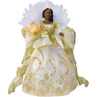 Holiday Time 12 Gold Angel Christmas Tree Topper