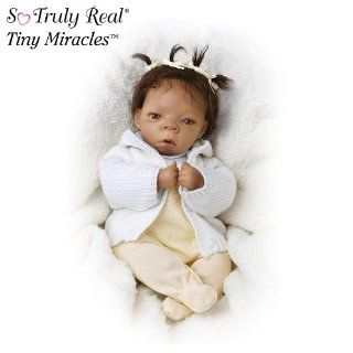 Lorna Miller Sands Tiny Miracles Destiny Vinyl Lifelike African American Collectible Baby Doll by Ashton Drake Toys & Games