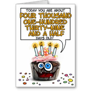 Happy Birthday Cupcake   11 years old Card