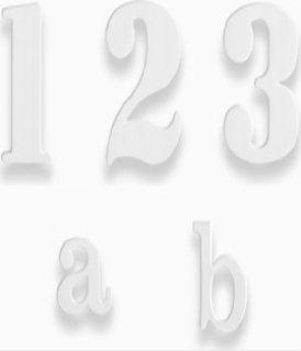 HAUSNUMMERN ALU  WEISS 50MM421427 A : Baumarkt