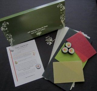 "100% Beeswax Candles   Make Your Own ""Sushi Candle"" Kit"