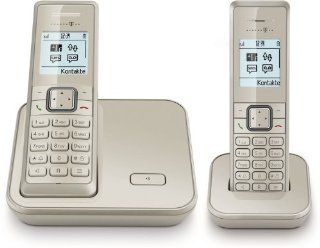 T   Sinus 206 DUO SET champagner analoges DECT Telefon Elektronik