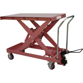 Northern Industrial Foot-Operated Lift Table Cart — 2,200Lb. Capacity  Hydraulic Lift Tables   Carts