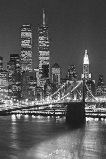New York   Brooklyn Bridge 4 Teilig Fototapete Poster Tapete (254 x 183cm) Küche & Haushalt
