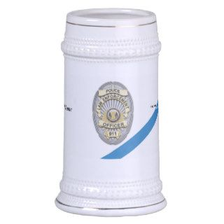 The Thin Blue Line Police Officer Beer Stein Mug