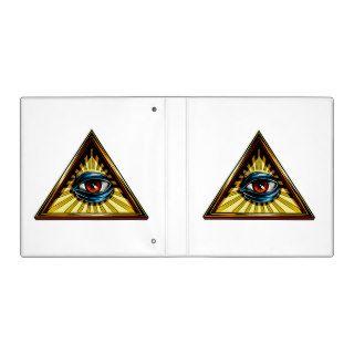 Triangle with eye Eye of Providence 3 Ring Binders