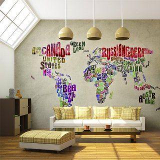 Vlies Tapete  Top  Fototapete  Wandbilder XXL  350x270 cm   Weltkarte  10040910 6 Küche & Haushalt