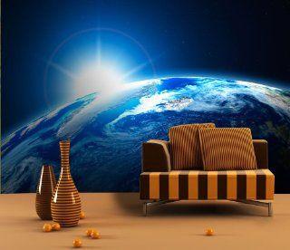 Fototapete Sunrise Earth Space KT255 Gr��e 420x270cm Tapete Weltall Erde Sonne Küche & Haushalt