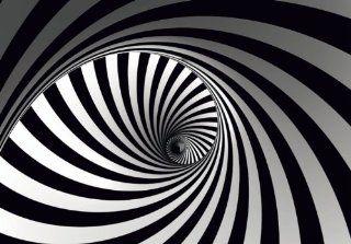 Fototapete VLIES Tapete Grafik Retro 3D Design Wirbel Spirale Foto 330 x 270 cm: Baumarkt