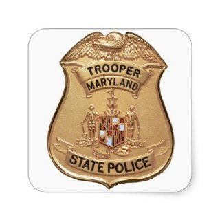 Maryland State Police Badge Stickers Toys & Games