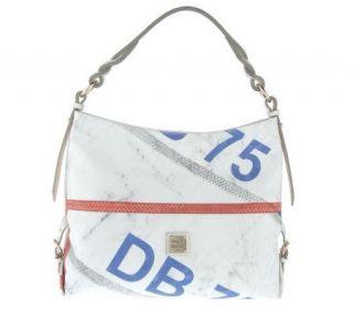 Dooney & Bourke Regatta Signature Sac with Leather Trim —