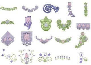 OESD Embroidery Machine Designs CD SPRING LACE APPLIQUE