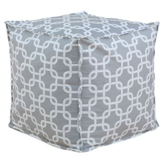 Gotcha Seamed Beads Hassock in Gray