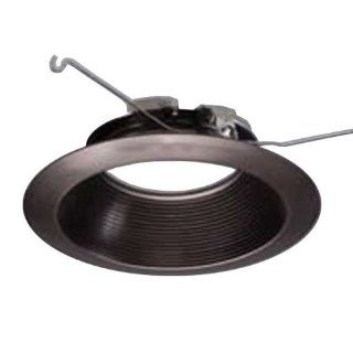 Halo 693TBZB   6 in.   Tuscan Bronze Trim with Micro Step Baffle   Fits Halo LED Downlight Modules   Ceiling Light Fixtures