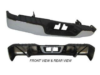 07 11 TOYOTA TUNDRA REAR STEP BUMPER FACE BAR CHROME FULL ASSY WITH TOP PAD & BUMPER SUPPORT,WITHOUT SENSOR HOLE Automotive