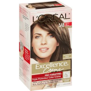 Loreal 5ab Mocha Ash Brown  Dark Brown Hairs