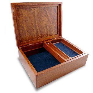 Handcrafted Bubinga Wood Valet Box   Jewelry Boxes