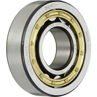 SKF NU 306 ECM Cylindrical Roller Bearing, Removable Inner Ring, Straight, High Capacity, Machined Brass Cage, Metric, 30mm Bore, 72mm OD, 19mm Width, 11000rpm Maximum Rotational Speed, 10800lbf Static Load Capacity, 11500lbf Dynamic Load Capacity Industr
