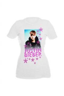Justin Bieber Pink Stars Girls T Shirt Plus Size Size  XX Large Clothing
