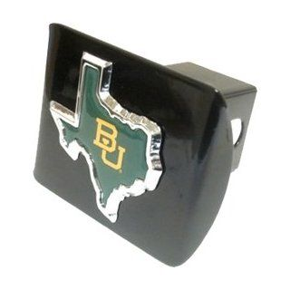 """Baylor University Bears """"Black and Chrome with """"BU Texas Shape"""" Emblem"""" Metal Trailer Hitch Cover Fits 2 Inch Auto Car Truck Receiver with NCAA College Sports Logo Automotive"""