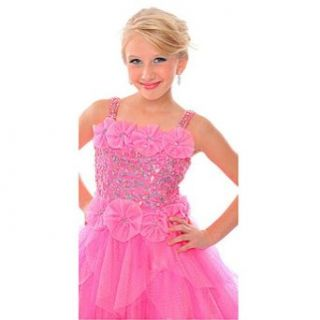 Posh Angels Pink Taffeta Sequin Girls Pageant Dress 6 Precious Formals Clothing