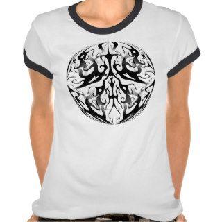 Elegance Tribal Tattoo Digital Collage T shirt