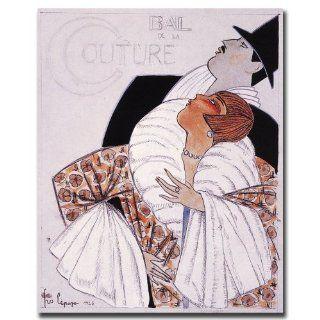 Trademark Fine Art Bal de la Couture by Georges Lepape Canvas Wall Art, 18x24 Inch   Prints