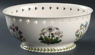 "Portmeirion Botanic Garden 9"" Pierced Bread Basket, Fine China Dinnerware: Kitchen & Dining"