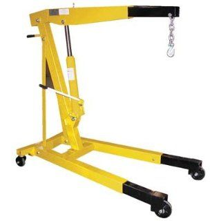 """Bear Claw Shop Crane Engine Hoist Non Foldable Telescopic Legs; Capacity 6, 000; Boom Length 51 7/8""""; Boom Height 22"""" to 84""""; Overall Size (W x L) 31 3/4"""" x 54 1/2""""; Leg Extension 6 11/16""""; Net Wt. (lbs.) 340; Model# BEH"""