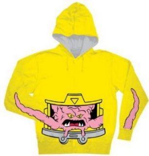 Teenage Mutant Ninja Turtles TMNT Krang Costume Hoodie Yellow 3XL Clothing