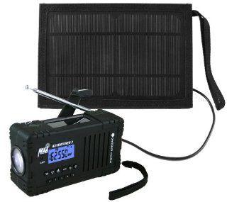 Ambient Weather WR 335 SOLARBAG ADVENTURER2 Emergency Solar Hand Crank AM/FM/SW/WB Weather Alert Radio, Flashlight, Siren, Smart Phone Charger and Solar Bag Kit