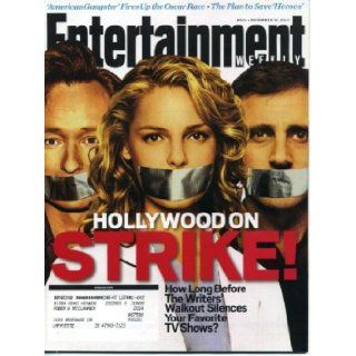 Entertainment Weekly November 16, 2007 Conan O'Brien & Katherine Heigl & Steve Carell Cover, Writer's Strike, Stephen King, Levon Helm/The Band, James Bond/007 Obsession Entertainment Weekly Books