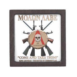 Molon Labe   Spartan Shield Premium Jewelry Boxes