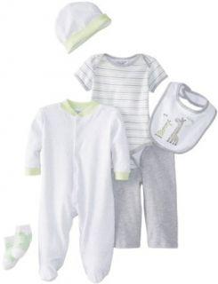 kyle & deena Baby Boys Newborn 6 Piece Layette Set On Hanger Clothing