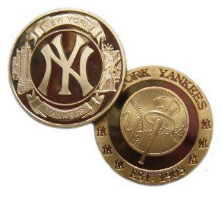 MLB New York YANKEES 24Kt GP Commemorative Coin