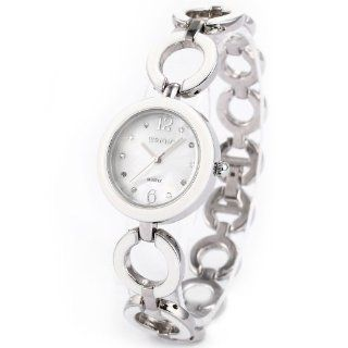 WEIQIN Crystal Women White Bracelet Stainless Steel Quartz Lady Wrist Watch WQI046: Watches