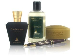 Pheromone for Men Collectible Set (Includes 1.7 Oz Cologne + 8 Oz Body Wash + Scented Soap) : Fragrance Sets : Beauty