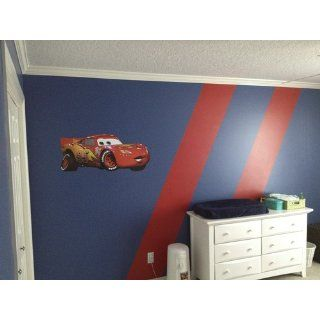 Roommates Rmk1518Gm Disney Pixar Cars Lightning Mcqueen Peel & Stick Giant Wall Decal   Wall Decor Stickers