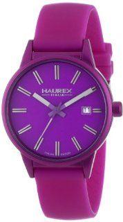 Haurex Italy Women's 6K378DP3 Compact Purple Aluminum Case Purple Dial Date Watch at  Women's Watch store.