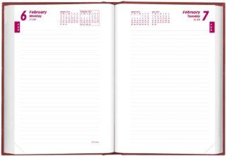 Brownline 2013 Daily Journal, Untimed, Hard Cover, Bright Red, 8.25 x 5.75 Inches (CB389.RED 13) : Appointment Books And Planners : Office Products