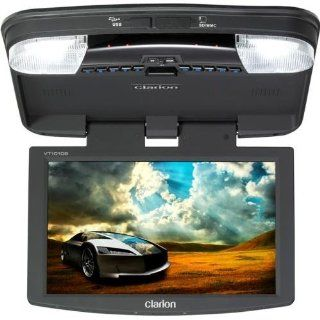 Clarion VT1010B 10.2 Inch Digital TFT LCD Widescreen Overhead Monitor with USB, SD CARD, and DVD Player : Vehicle Overhead Video : Car Electronics